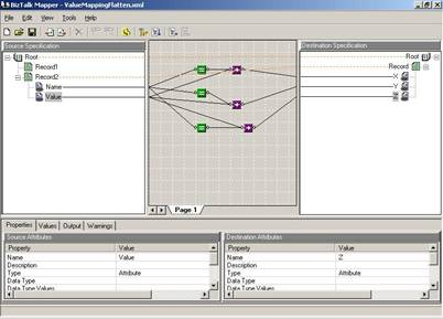 BizTalk Mapper circa 2002 - click on the image to see a larger view
