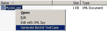 Auto-generating BizUnit Test Cases